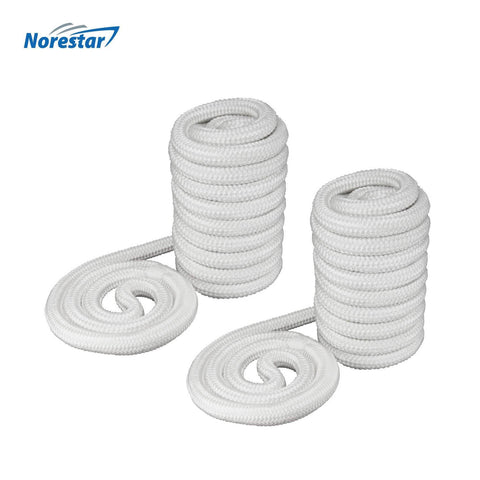 High-Visibility Reflective Double-Braided Nylon Dock Line, Gold