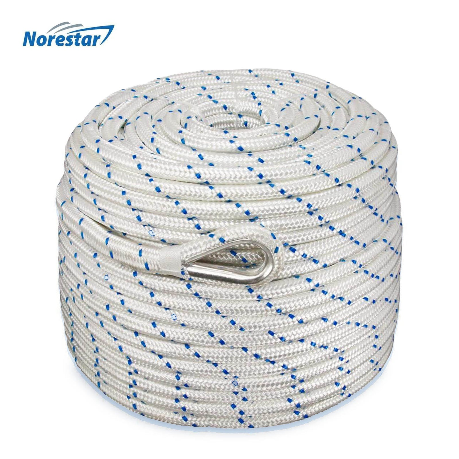 Norestar Double-Braided Nylon Anchor Rope - 1/2""