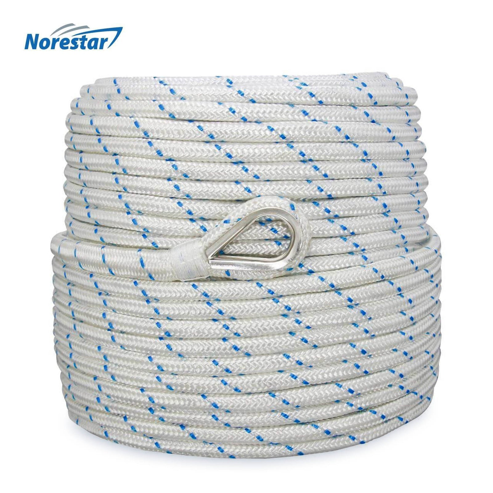 Norestar Double-Braided Nylon Anchor Rope - 3/8""