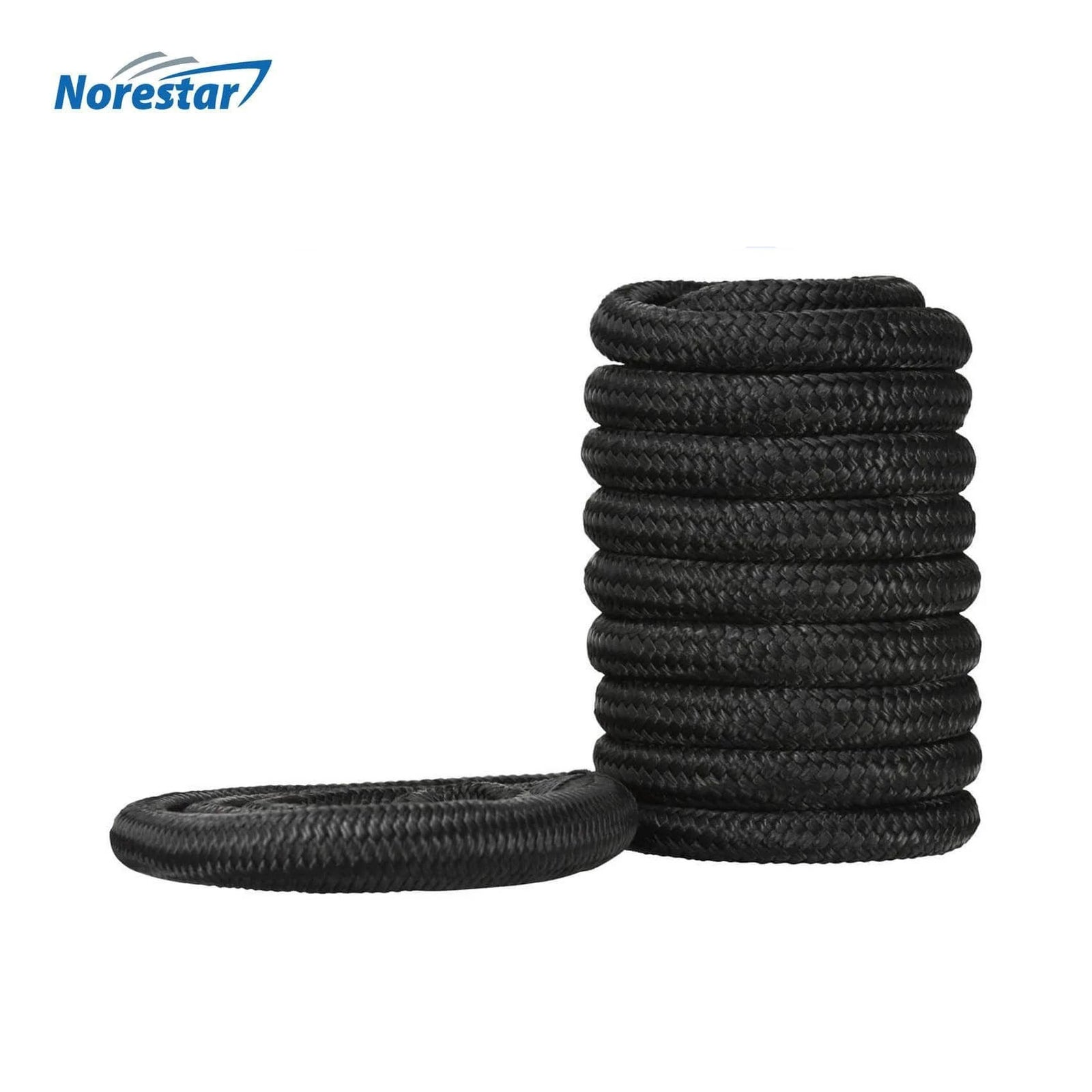 Norestar Braided Nylon Dock Line  Black  Front