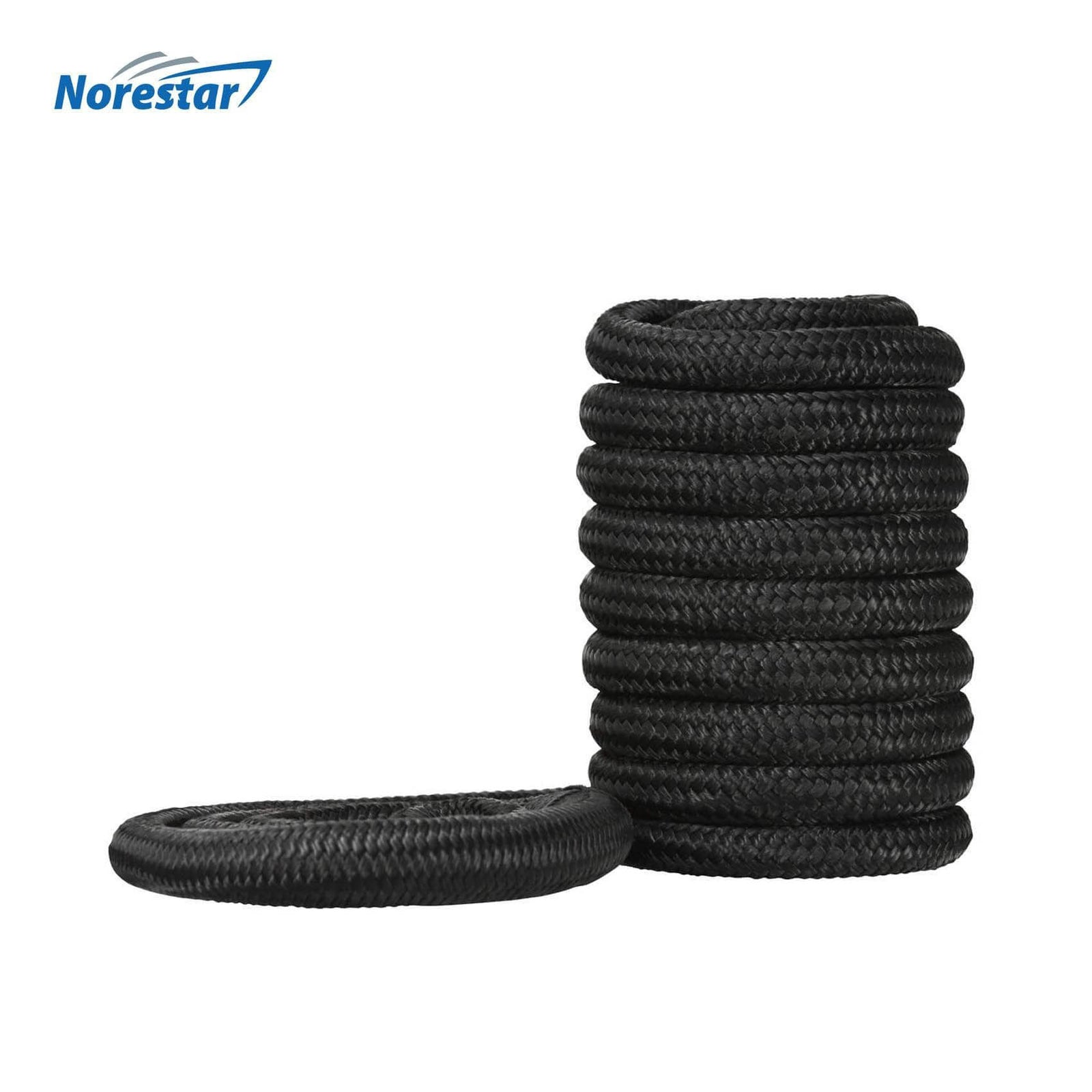 Norestar Braided Nylon Dock Line, Black