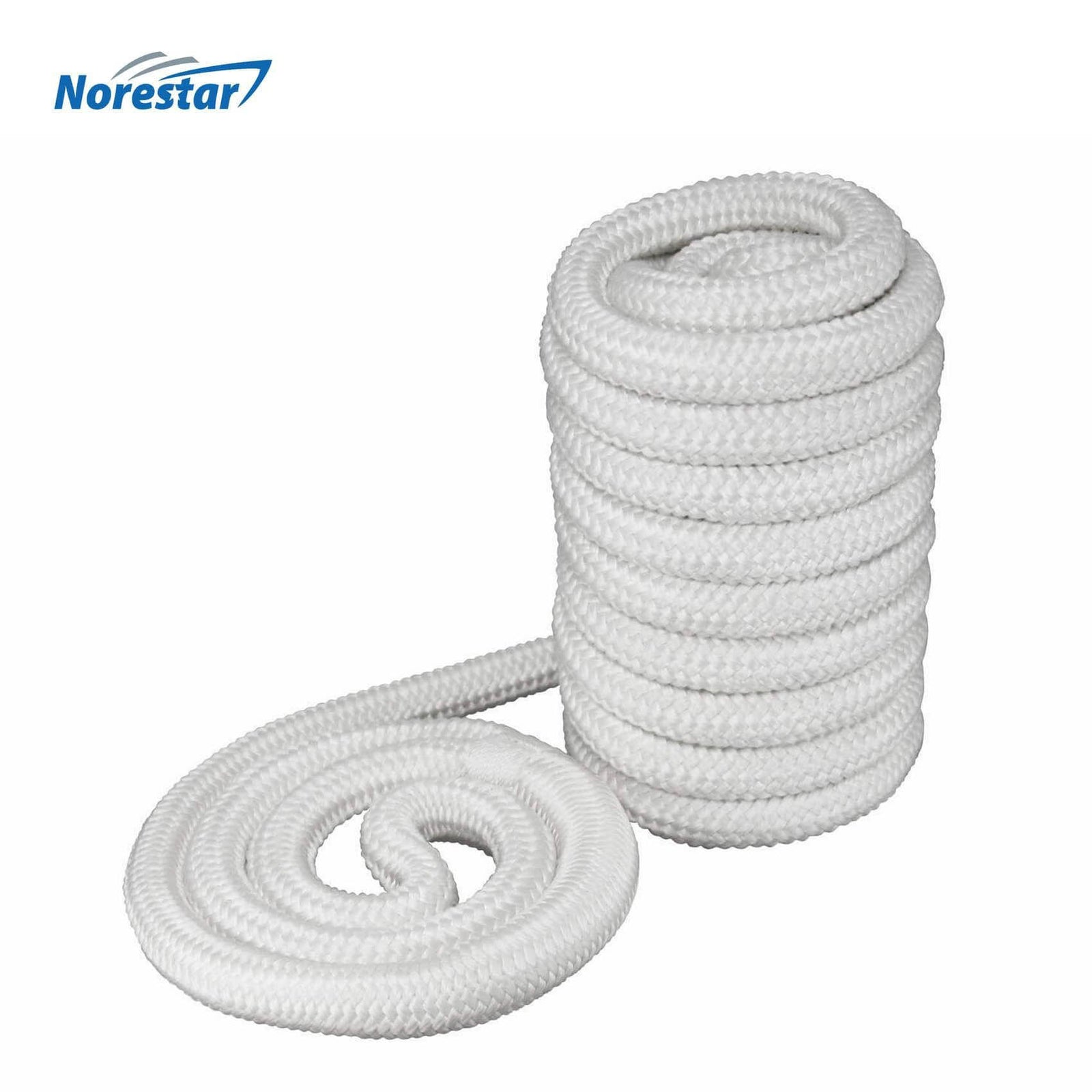 Norestar Braided Nylon Dock Line  White