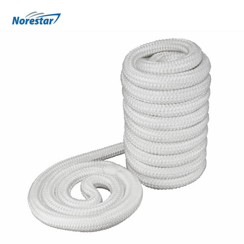 Set of Two Double-Braided Nylon Mooring and Docking Lines, White