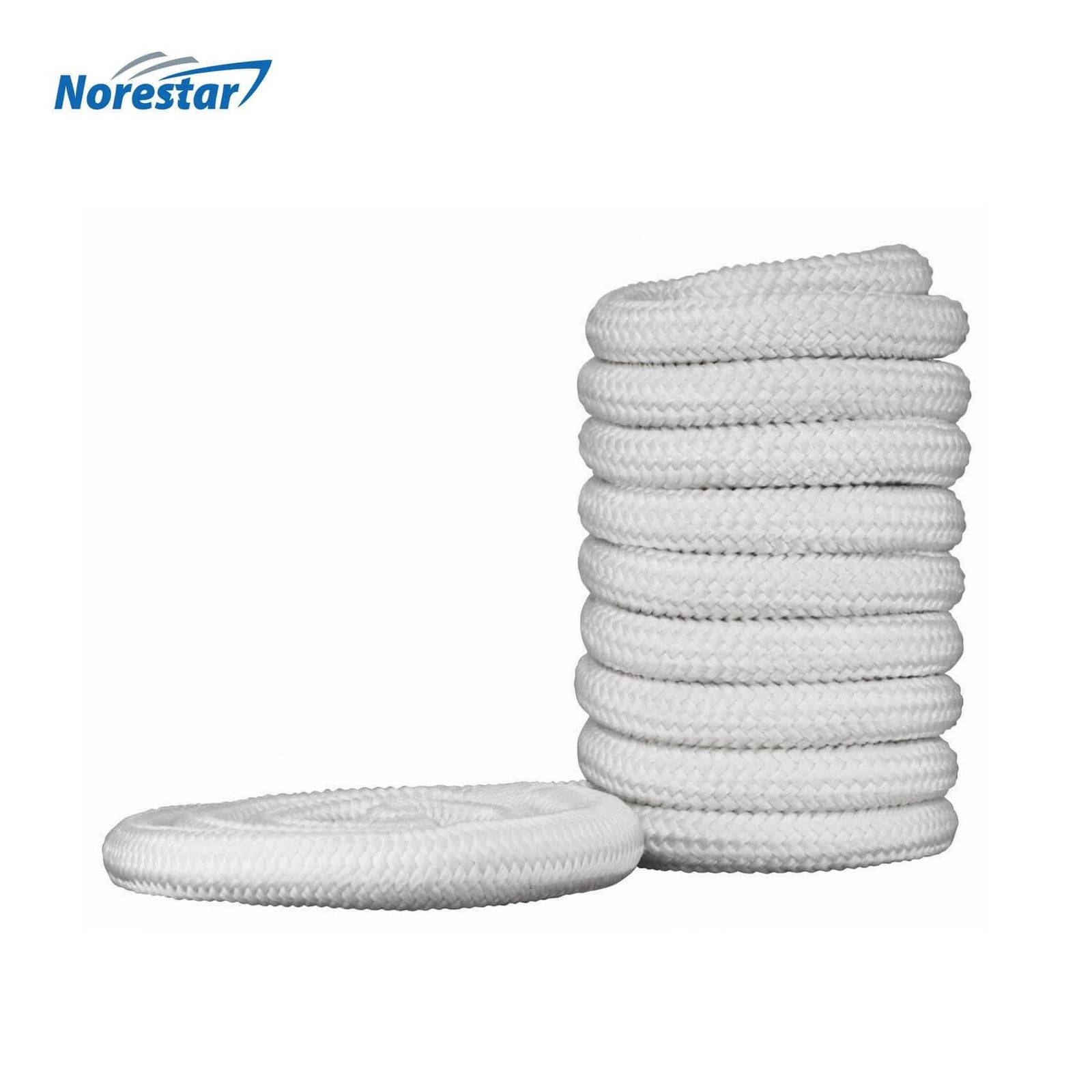 Norestar Braided Nylon Dock Line  White  Front