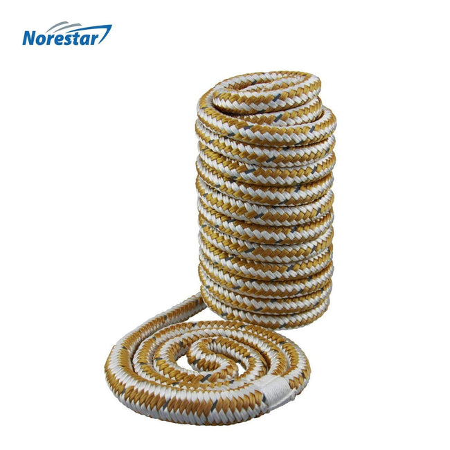 High-Visibility Reflective Braided Nylon Dock Line, Gold