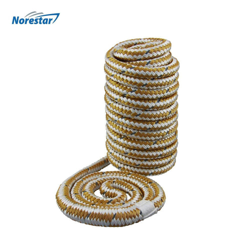 "Double-Braided Nylon Dock Line, 15' × 3/8"" (Gold)"