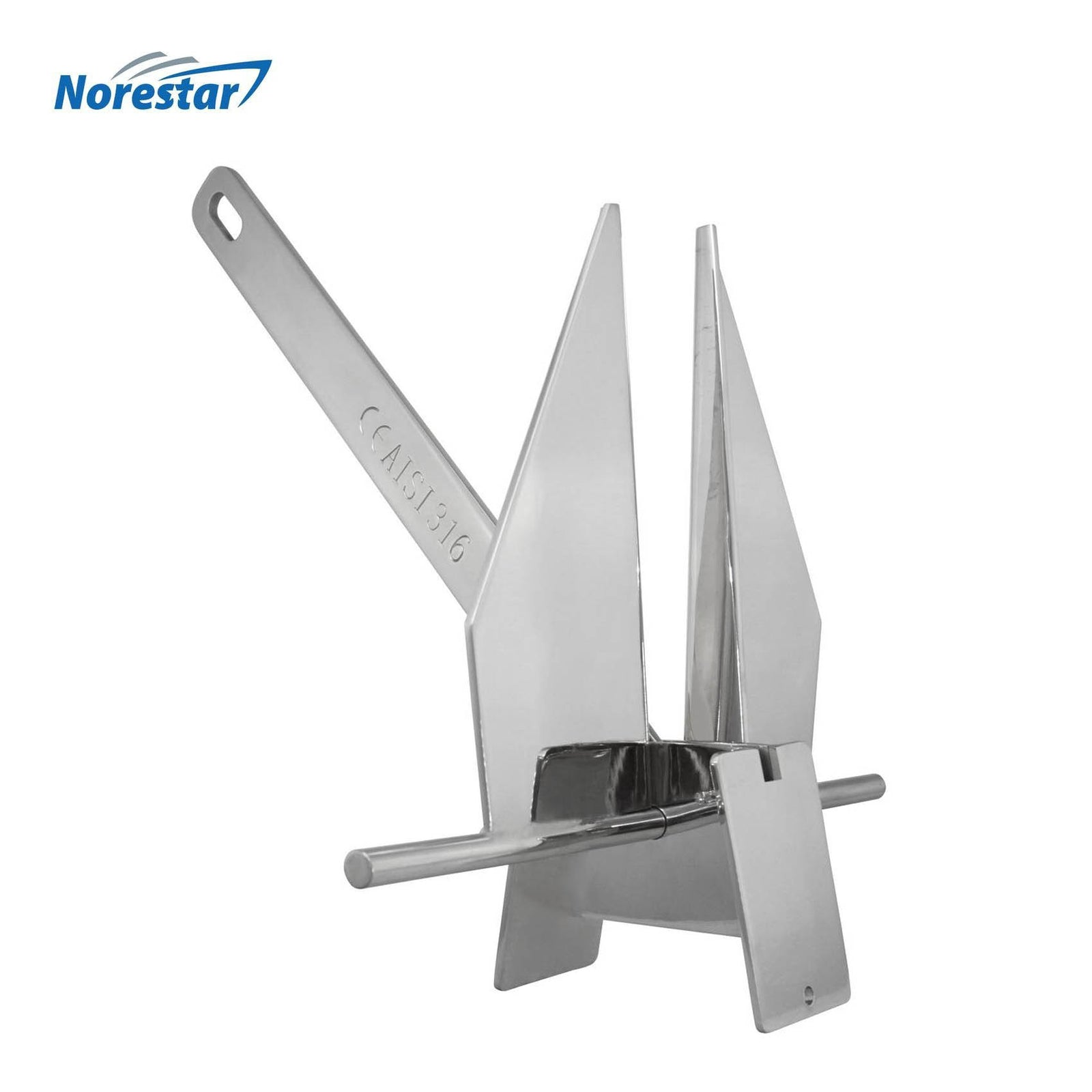 Stainless Steel Danforth/Fluke Boat Anchor by Norestar