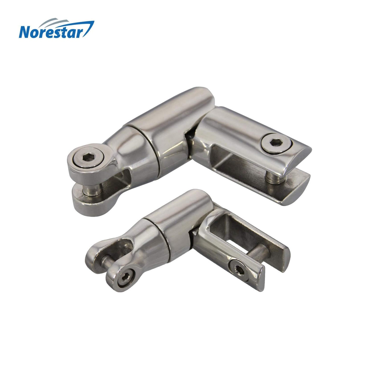 Norestar Stainless Steel Multidirectional Anchor Swivel Size Comparison