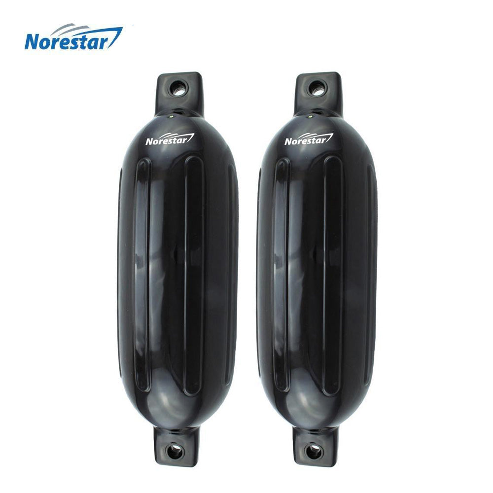 Norestar Ribbed Boat Fender - Black