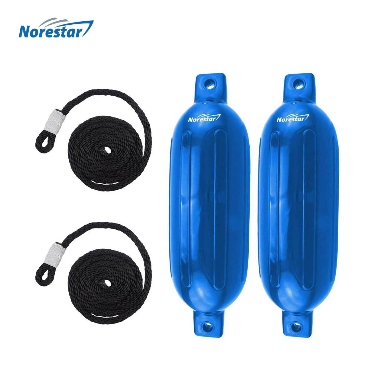 Norestar Ribbed Boat Fender - Blue