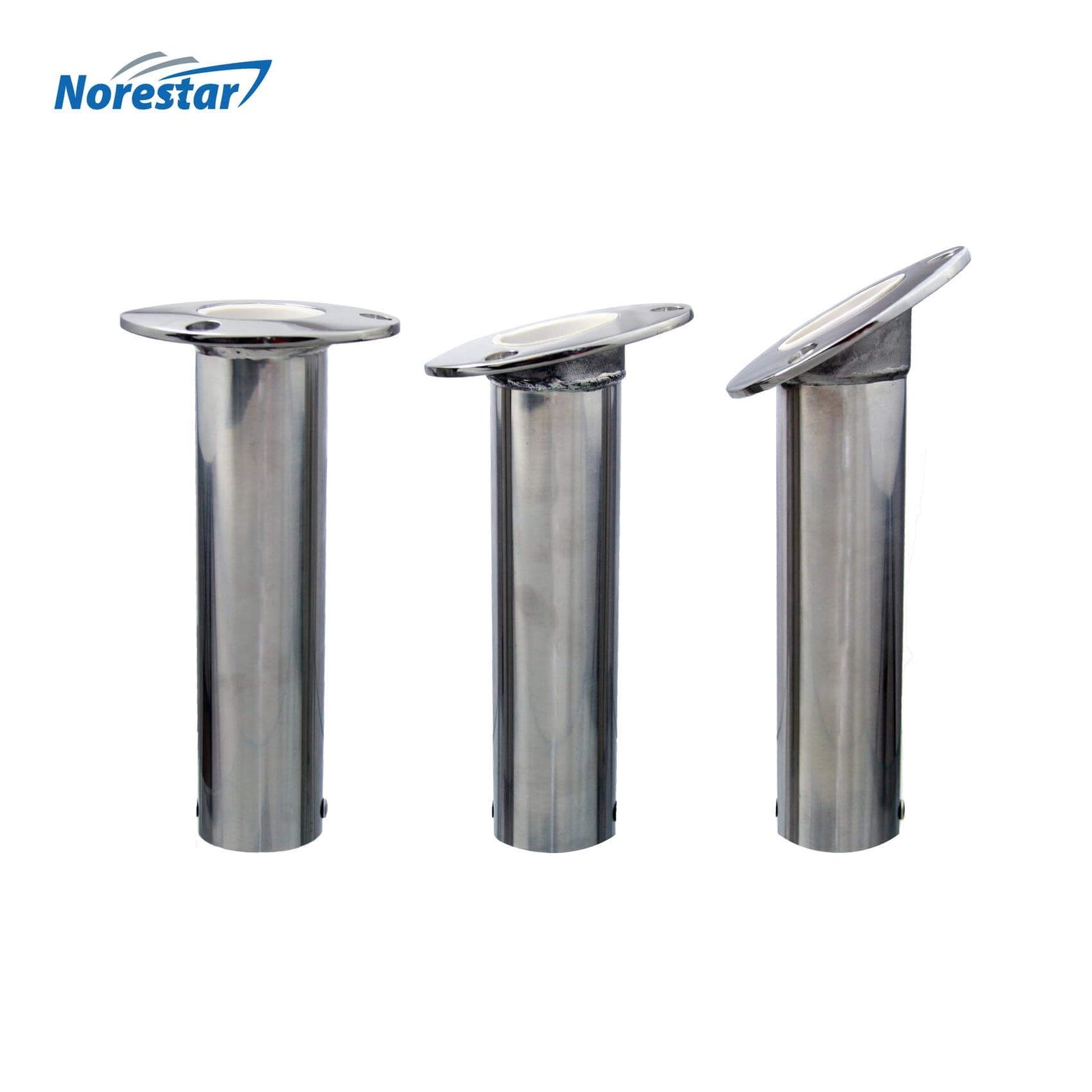 Flush Mounted Stainless Steel Rod Holder, Angle Comparison