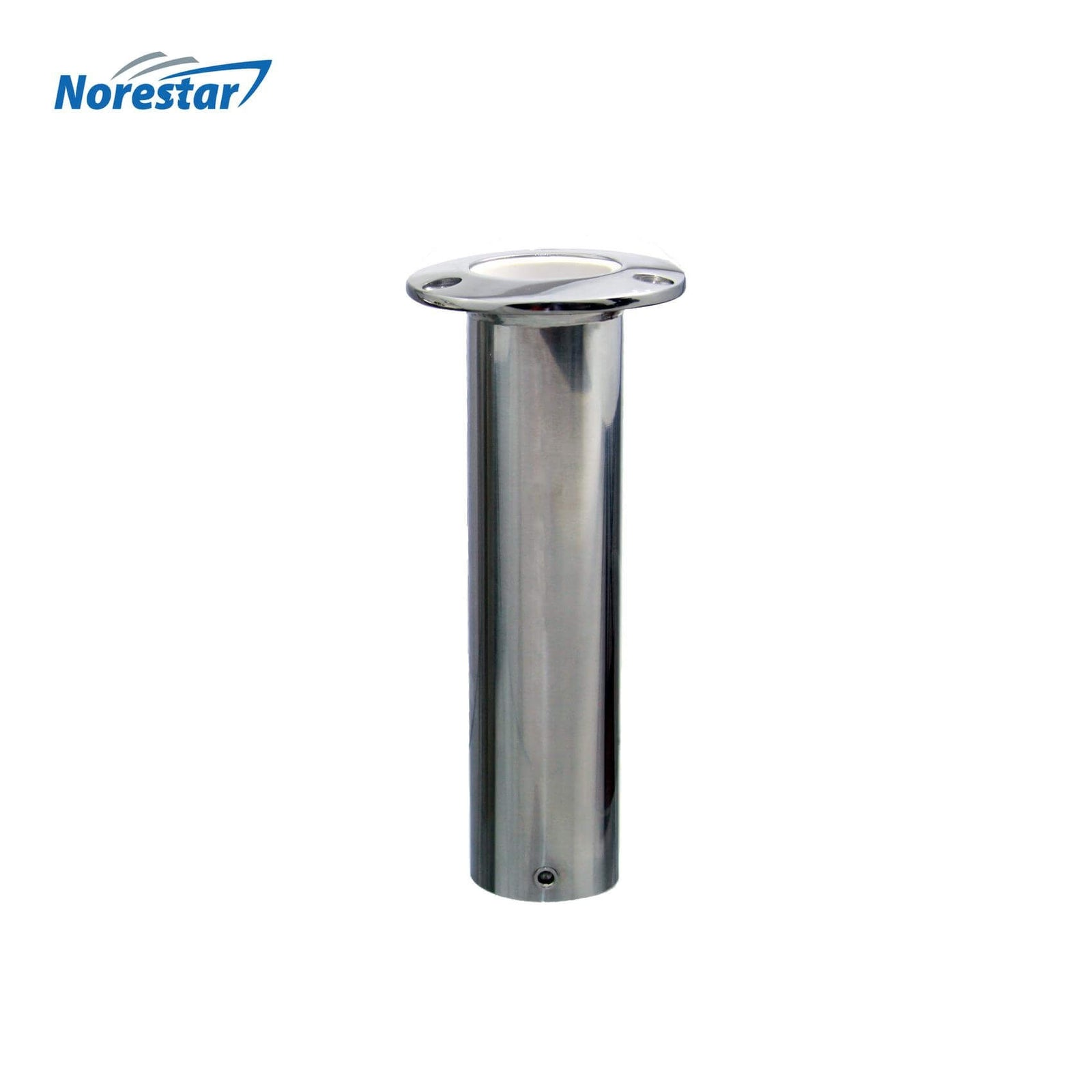 Flush Mounted Stainless Steel Rod Holder, Straight