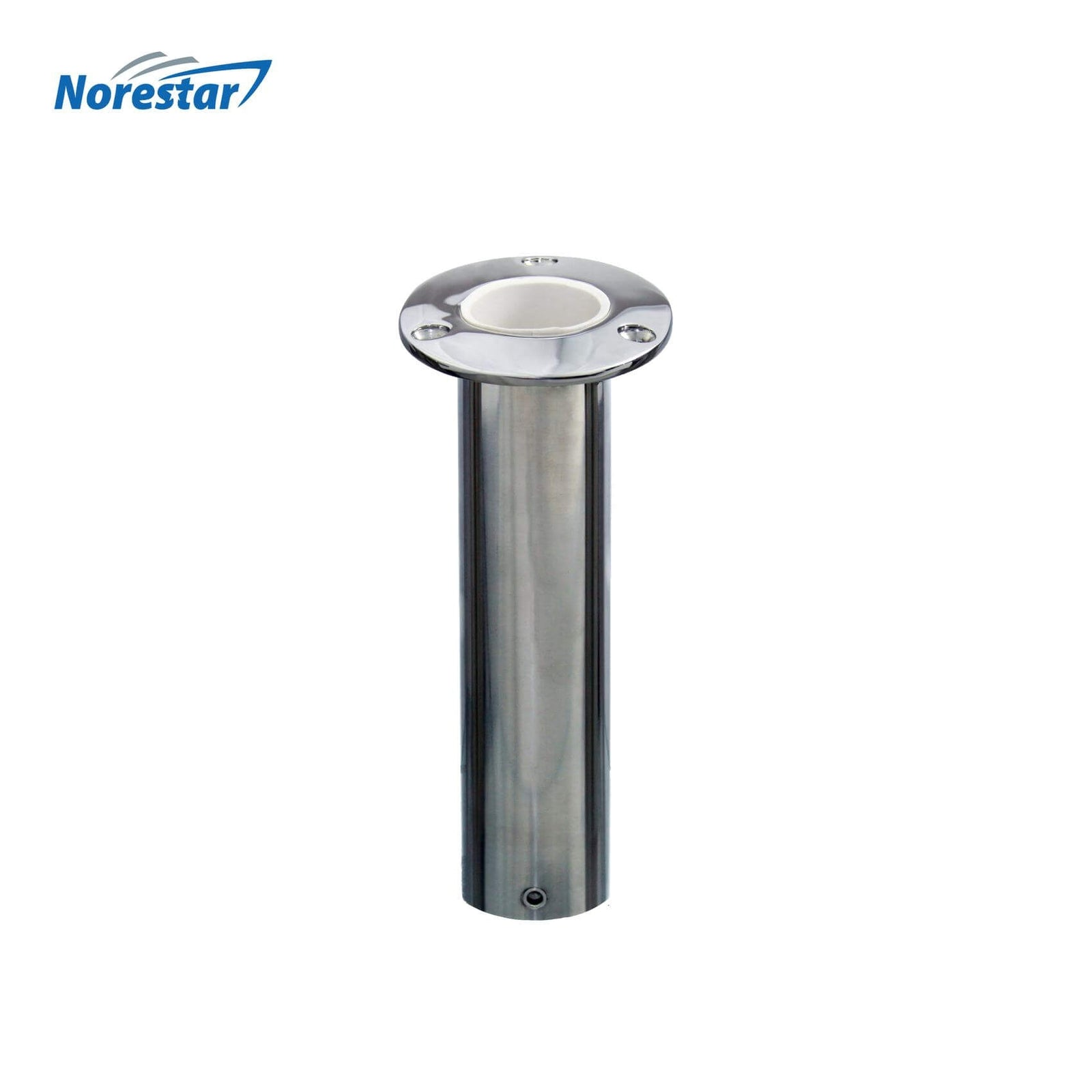 Flush Mounted Stainless Steel Rod Holder, Angled 15 Degrees