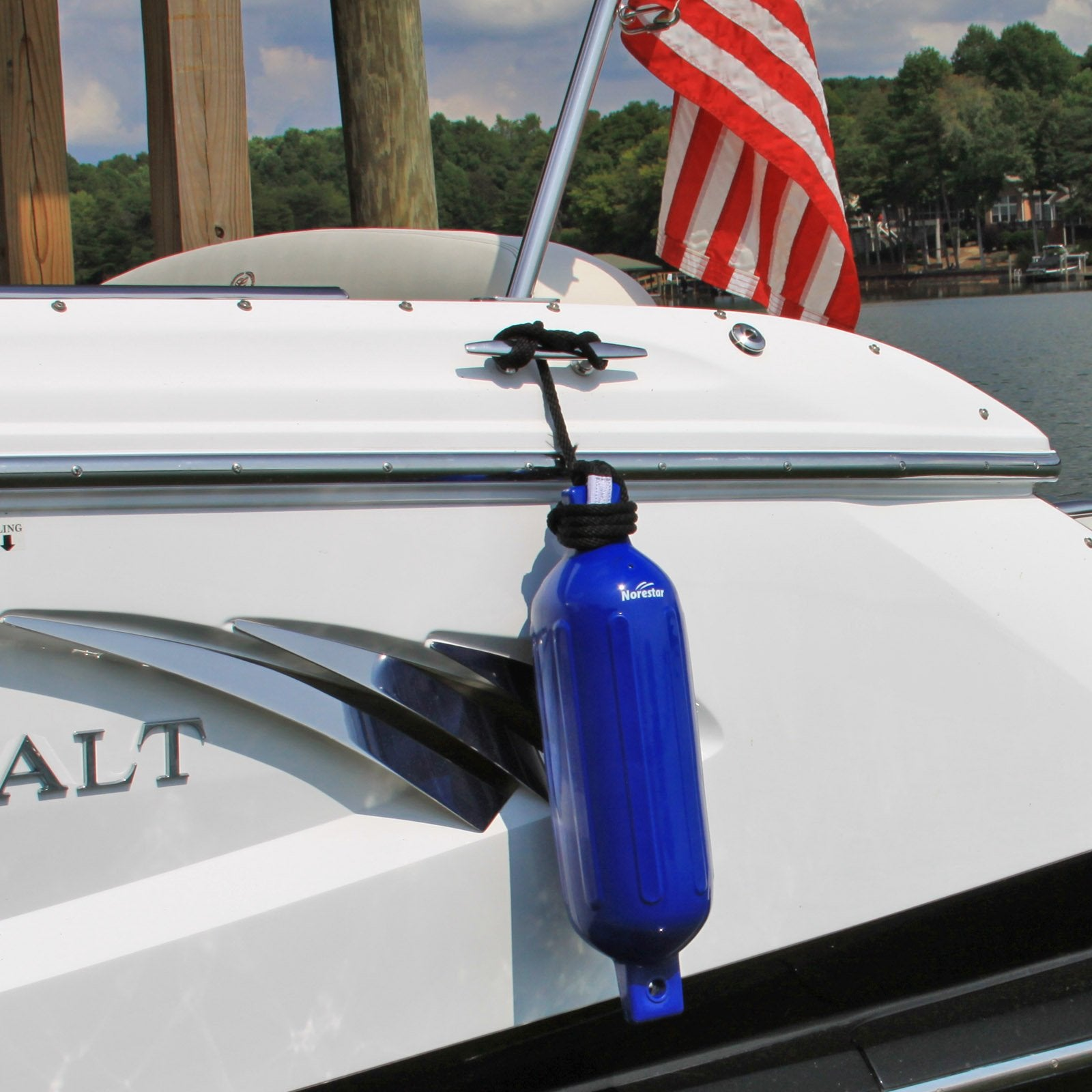 Norestar Ribbed Fender Line On Boat