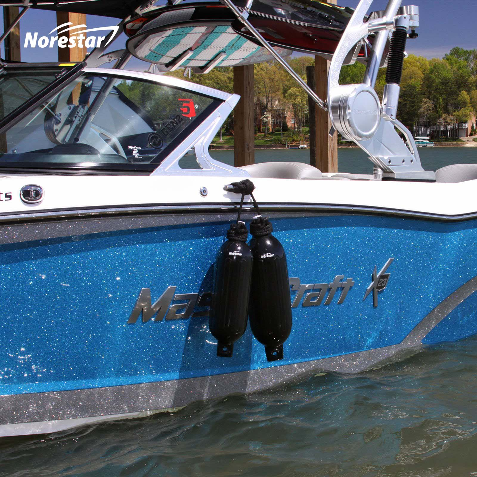 Norestar Ribbed Fender On Boat