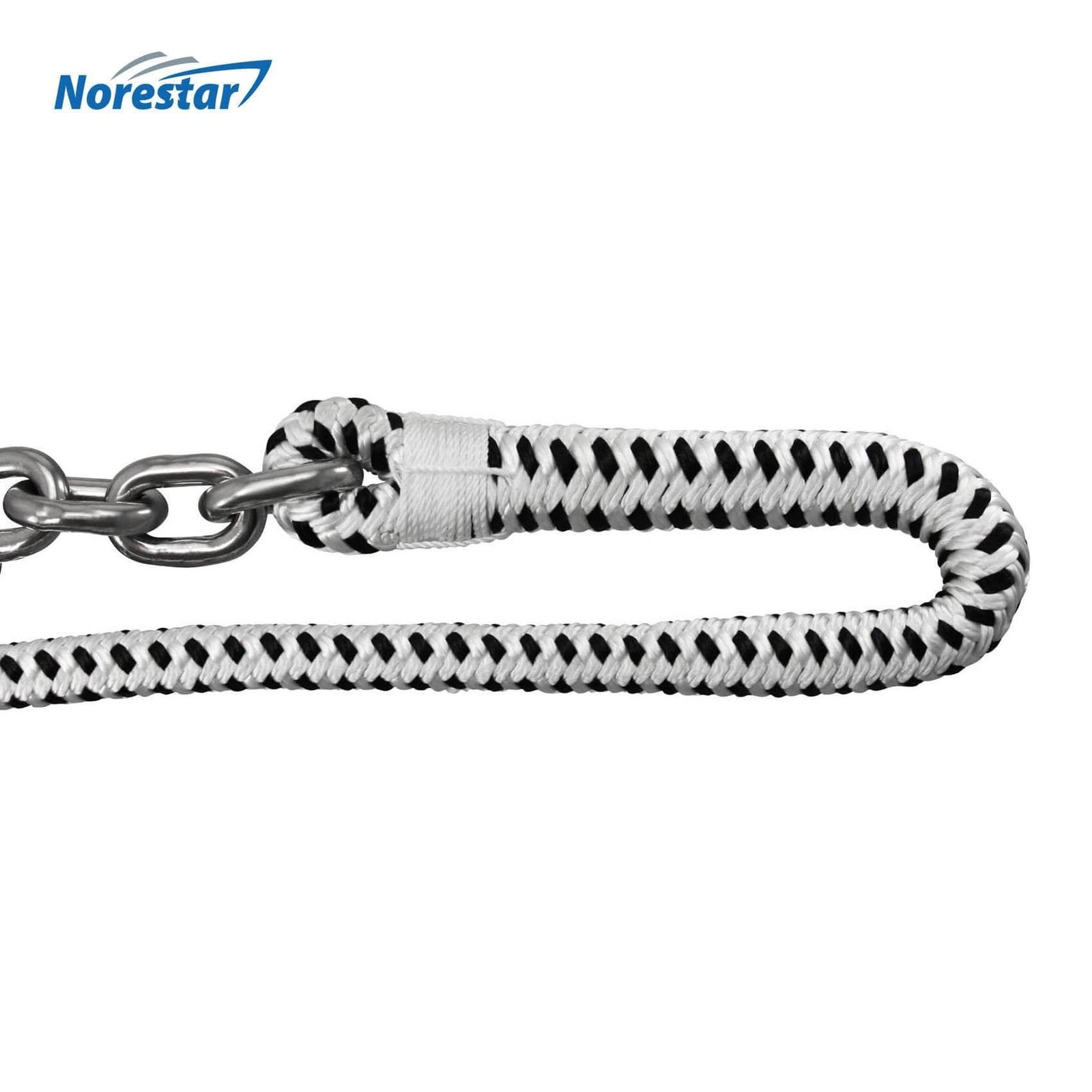 Braided Windlass Rope & Stainless Steel Chain - Detail