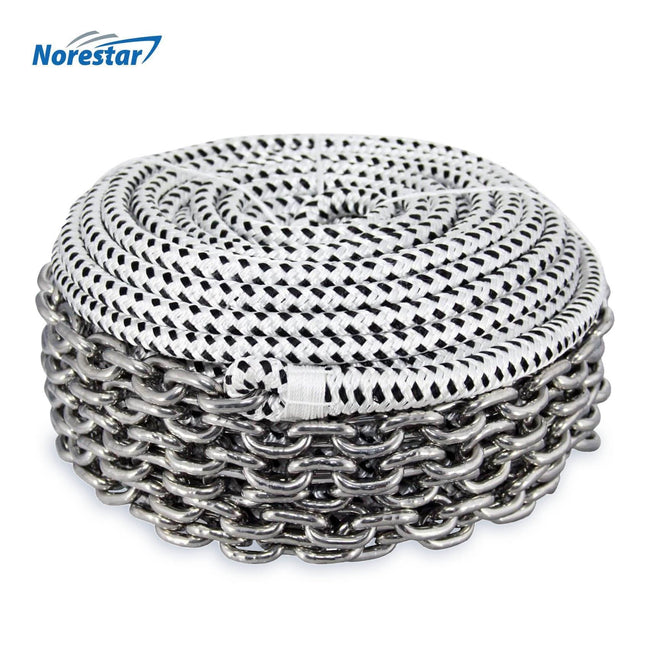 Braided Windlass Rope & Stainless Steel Chain