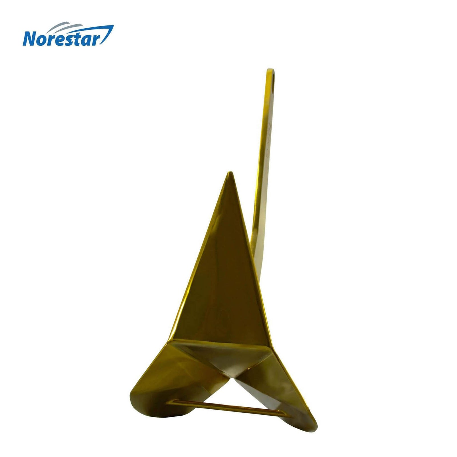 Norestar Stainless Steel Rainbow Wing-Style Boat Anchor Gold Bottom