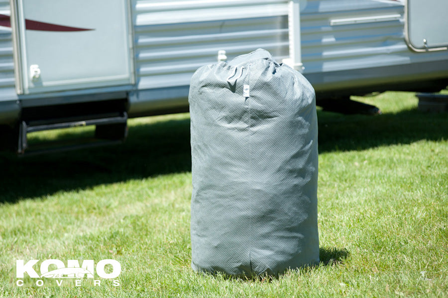 Super Heavy Duty Travel Trailer RV Cover (Waterproof) - Storage Bag