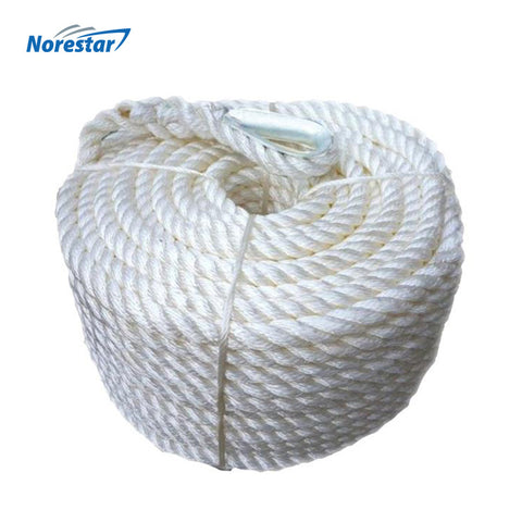 Double-Braided Nylon Anchor Rope with Stainless Steel Thimble