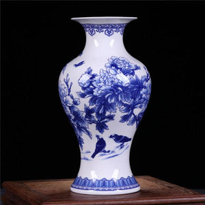 Blue & White Fine Bone Porcelain Vases- 6 Designs! - The Ru Store