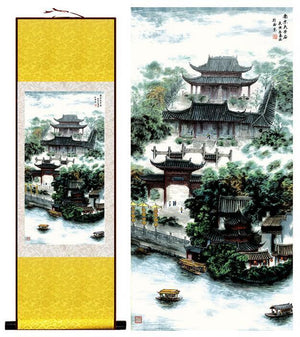 """A Ru (Confucian) Coming Home"" Silk Scroll Painting - The Ru Store"
