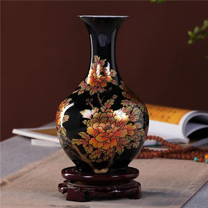 Black Porcelain Vases- 4 Designs! - The Ru Store