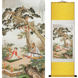 """A Ru (Confucian) Precious Moment"" Silk Scroll Painting - The Ru Store"