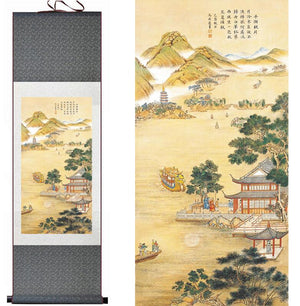 """A Ru (Confucian) Welcoming Friends From Afar"" Silk Scroll Painting - The Ru Store"