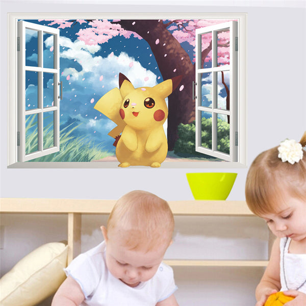 Sticker mural Pikachu
