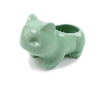 Kawaii Ceramic Flowerpot Bulbasaur Succulent Planter Cute White / Green Plants Flower Pot with Hole Cute Dropshipping