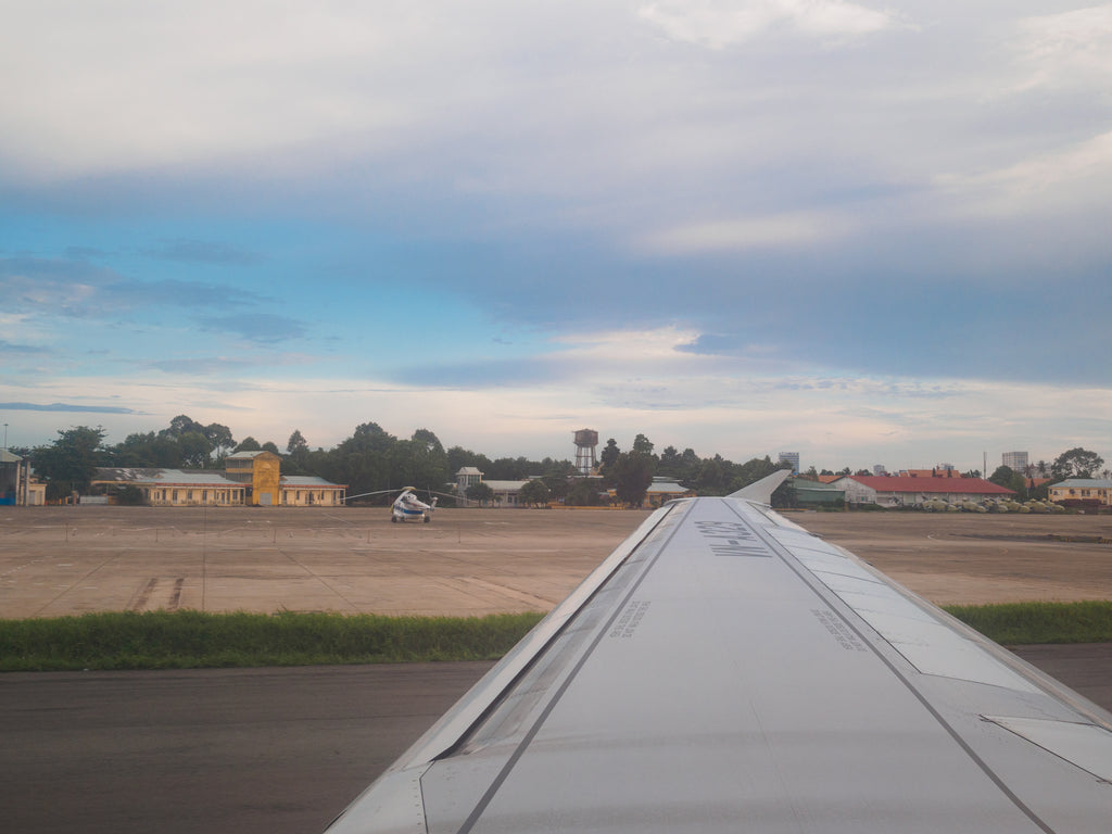 Landing in Ho Chi Minh City.