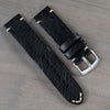 22mm Black Handmade Leather