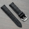 20mm Caoutchouc Rubber - Alligator - Swiss Made