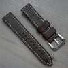 20mm Brown Leather - Brushed Buckle