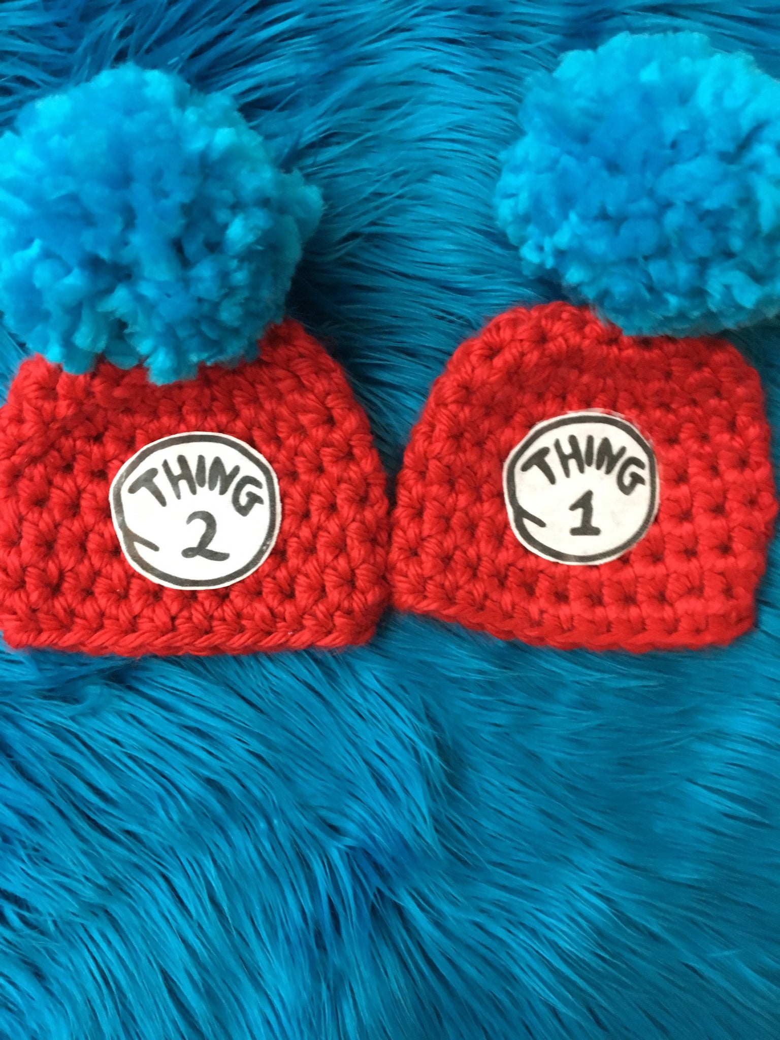 newborn twins halloween costume thing 1 and thing 2 baby photo prop set twins