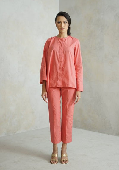 Maroc Cropped Pants - Peach Rose