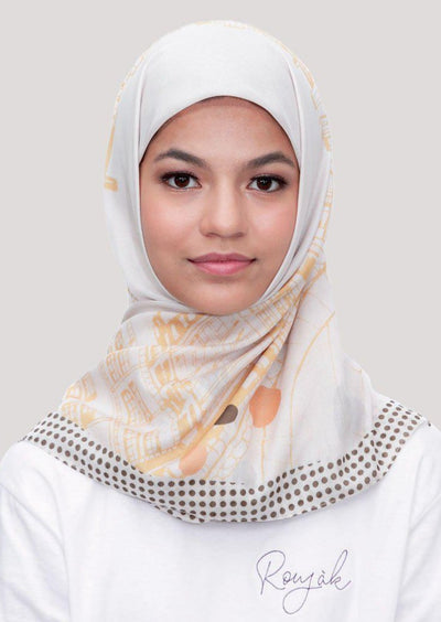Le Hijab Bridge Ivory, Carré 115, Ultrafine Premium Voal, Roujak