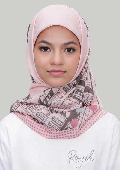 Le Hijab Bridge Lilac, Carré 115, Ultrafine Premium Voal, Roujak
