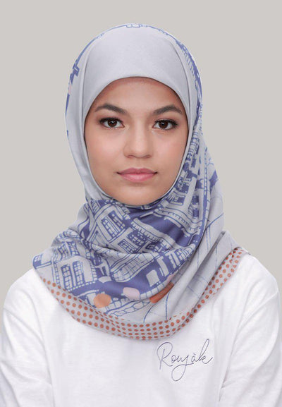 Le Hijab Bridge Stone, Carré 115, Ultrafine Premium Voal, Roujak