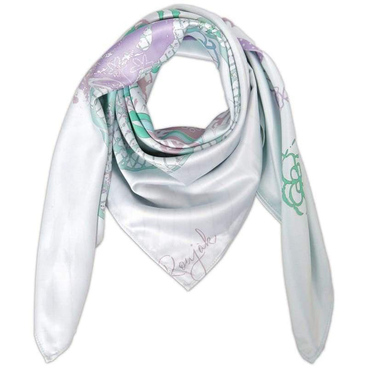 Le Scarf Love me Green, Carré 70, Roujak Paris, Roujak