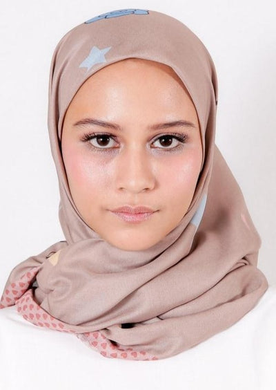 Le Hijab Rose Blue, Carré 115, Ultrafine Premium Voal, Roujak