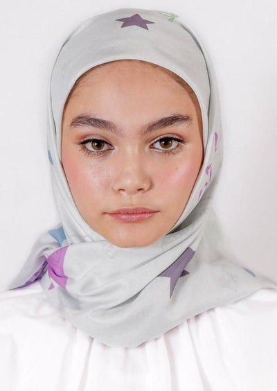 Le Hijab Rose Green, Carré 115, Ultrafine Premium Voal, Roujak