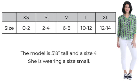 Breeze Shirt Size Guide