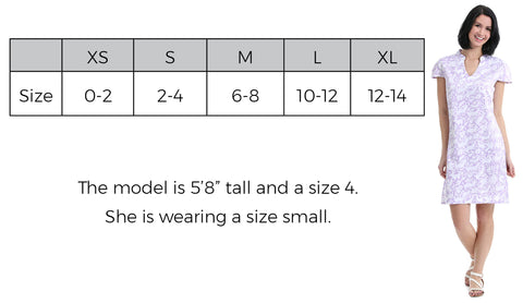 Cap Sleeve Dress Size Guide