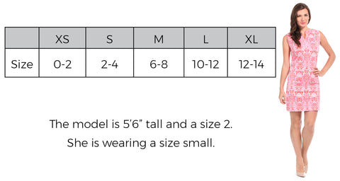 Chatham Shift Dress Size Guide