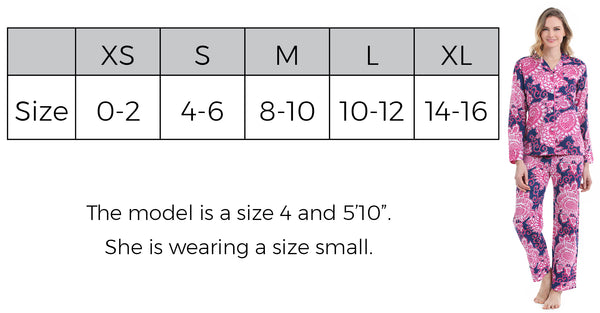 Cotton Pajama Size Guide