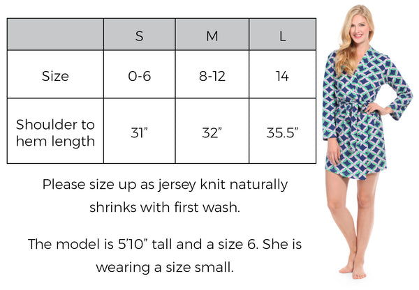 Knit Robe Size Guide