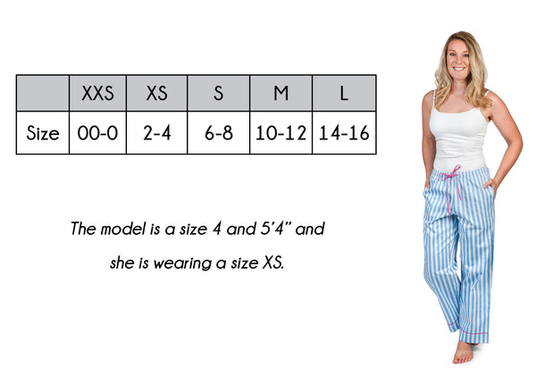 Women's Lounge Pant Size Guide