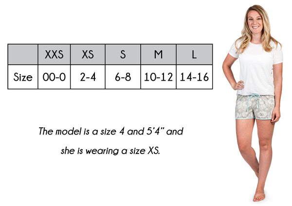 Women's Pajama Shorts Size Guide